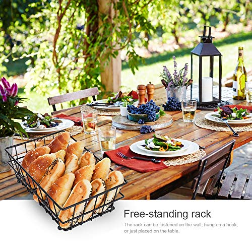Oakome 2 Tier Fruit Baskets - Metal Bread Basket Stand with Free Screws for Fruit, Vegetables, Snacks, Home Kitchen and Office by oakome (Image #7)