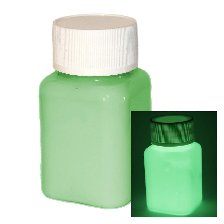 lumentics Premium Leuchtfarbe 100ml - Im Dunkeln leuchtende Farbe, Helle Nachleuchtfarbe, Selbstleuchtende Wandfarbe, UV Glü hfarbe, Glow (Grü n)