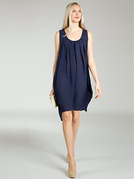 CASPAR SKL011 Vestido de Playa/Verano Ligero para Mujer, Color azul oscuro;Tamaño:Talla Única (XS.S.M.L): Amazon.es: Ropa y accesorios