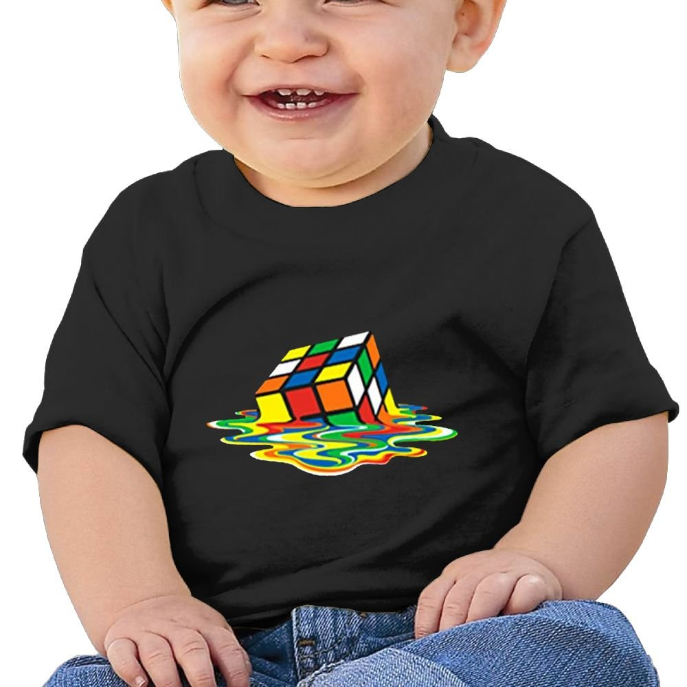 Sfjgbfjs Baby T-Shirt Colorful Rubik's Cube Soft and Cozy Infant T-Shirt