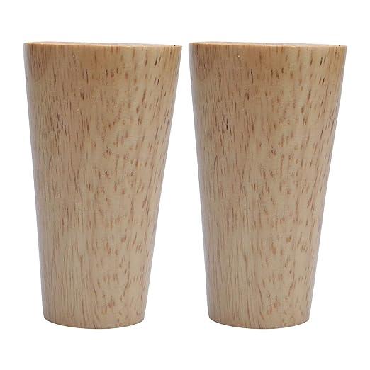 Sourcingmap - Patas de madera maciza para muebles, redondas ...