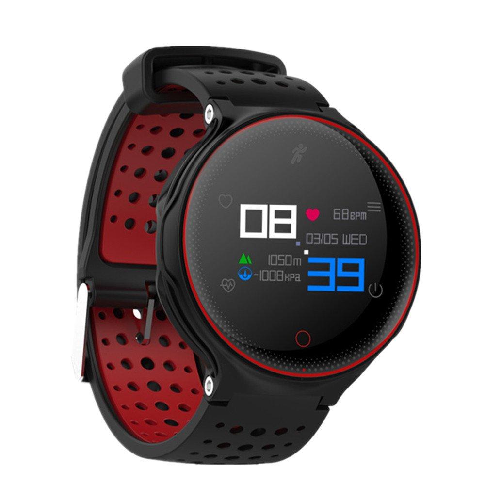 furiger Fitness Trackerトラッカー活動、ステップカウンタ、睡眠モニタとして、ip68防水スマートブレスレット歩数計、カロリーカウンターWatch for Kidsレディースメンズ。 レッド FGCA-PA-CF-ZJ-X2-R B07DRC7NM3  レッド