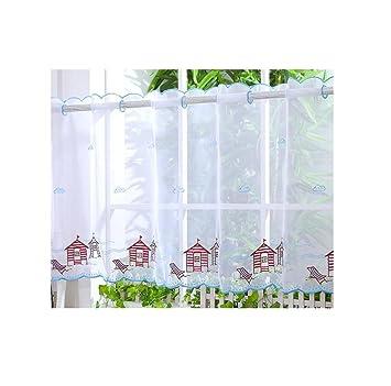 Voile cortina de visillo paneles – D22 – Caseta de playa (luz azul) 24