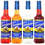 Torani Sugar Free Syrup Variety Pack, Soda Flavors, 4 Count