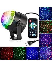 KOOT Disco Lights Ball, Strobe Light,Sound Activated Party Lights LED 7 Colors Holiday Lights DJ Lights Strobe Lights for Dance Karaoke DJ Bar Wedding Show (with Remote)