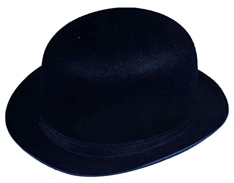 UHC Adult Men s Bowler Derby Felt Top Hat Halloween Costume Accessory  (Black) fe5c83917a8