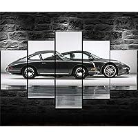 6Lv5Panel Impresiones sobre Lienzo 5 Panel Porsche 911
