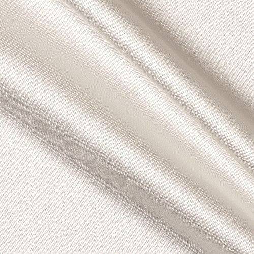 (Poly Crepe Back Satin Ivory Fabric By The Yard)