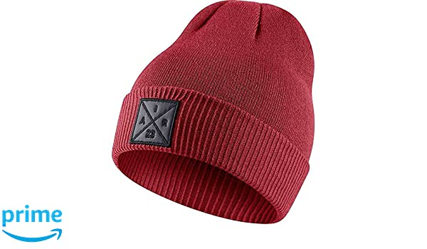 6eff0ad1625 Nike mens JORDAN P51 BEANIE EMBROIDERY 861451-687 - GYM RED at Amazon Men's  Clothing store: