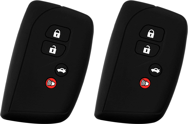 KEYGUARDZ Black Rubber Keyless Entry Remote Smart Key Fob Skin Cover Protector for Lexus