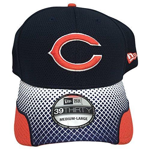 飛行場逃すおもてなしNFL New Era 39thirty Chicago Bears M / L帽子