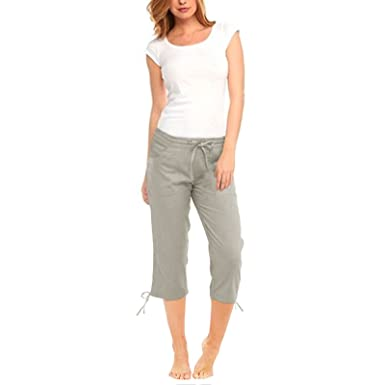 novel style really cheap fresh styles Unbranded Womens Ladies Elasticated 3/4 Shorts Cropped Trousers Pocket  Cotton Summer Pants