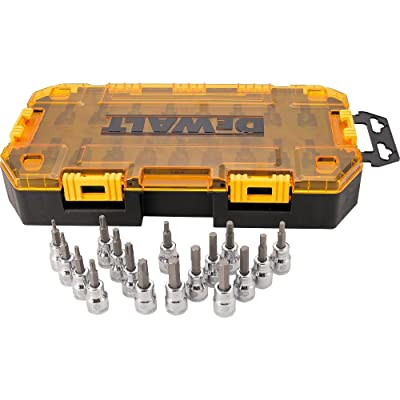 DEWALT Drive Socket Set, SAE/Metric, 3/8-Inch Drive, 17-Piece (DWMT73806): Home Improvement