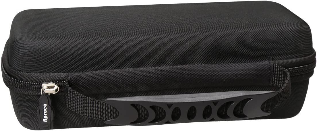 Black Aproca Hard Protective Travel Case Fit Poweradd MusicFly Indoor//Outdoor Portable Wireless Bluetooth Speakers