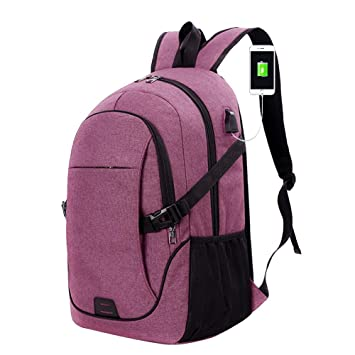 Negocios Mochila para portátil slim anti robo ordenador bolsa water-resistent Universidad escuela mochila de viaje ...