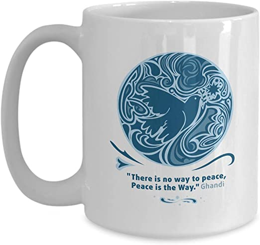 com activist coffee mug there is no way to peace peace