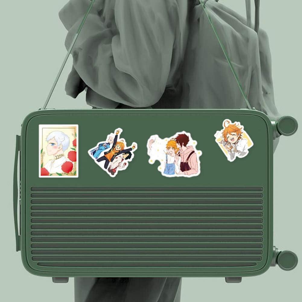 KroY PecoeD 50 Pi/èces Promised Le Pays Imaginaire PVC Ensemble Autocollants Style 01 Manga Pare-Choc Stickers pour Ordinateur Portable Baggage Voiture Skateboard Valise /Étui et Plus