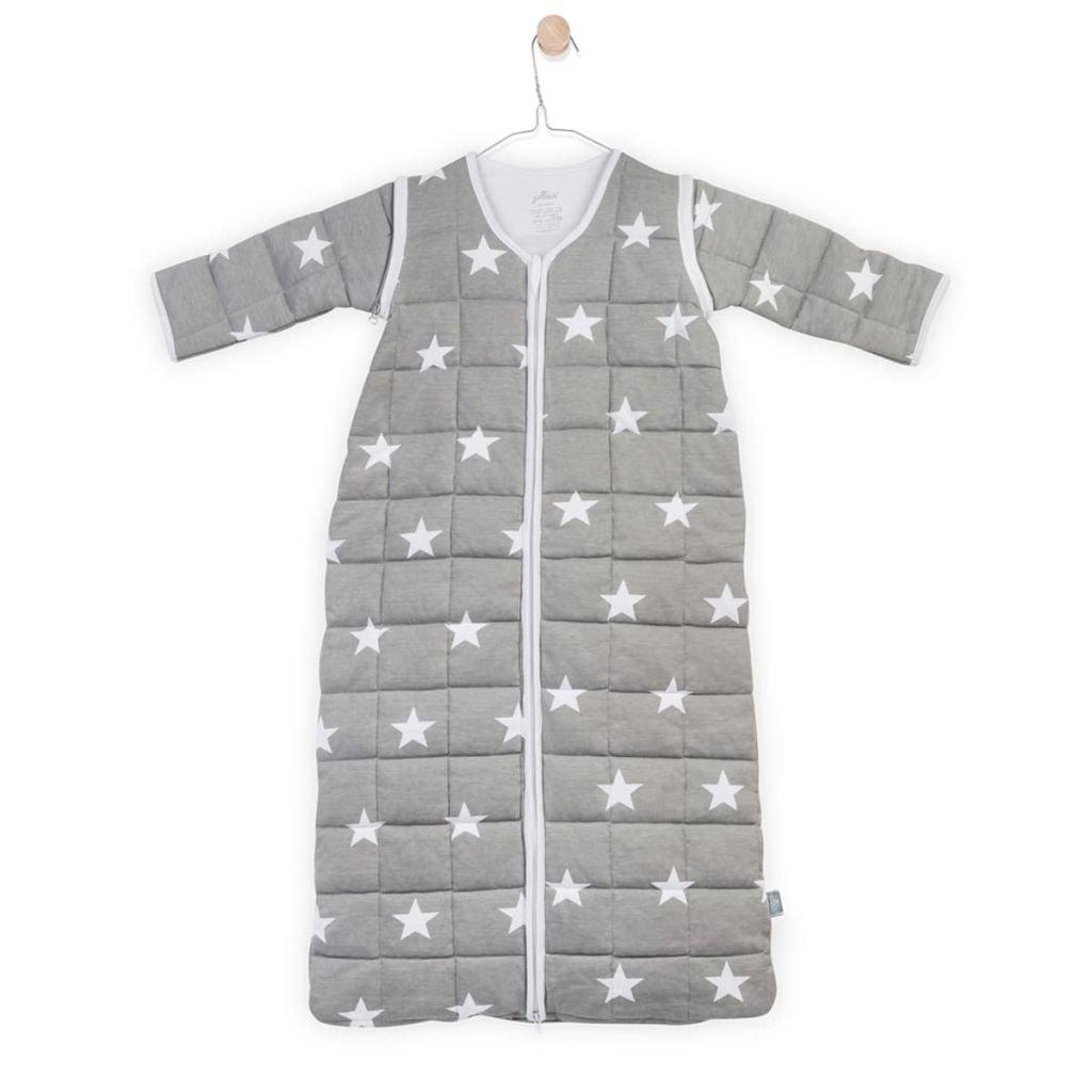 Jollein 016 40510 - 542 - 0 64966 año matrimonio little star - Saco de dormir con mangas extraíbles), 110 cm), color gris: Amazon.es: Bebé