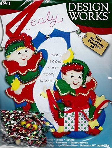 Design Works #5084 Felt Elves Stocking Kit by Design Works Crafts Inc