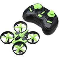 EACHINE Mini Quadcopter Drone, E010 2.4GHz 6-Axis Gyro Remote Control Nano Drone for Beginners Adults - Headless Mode, 3D Flip, One Key Return (Green)