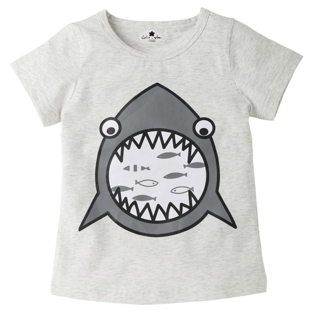 Btruely Herren 2018 Moda ropa de Niño Verano Ropa Bebe Niño Tiburón de dibujos animados Camiseta Manga Corta T-shirt Tops: Amazon.es: Ropa y accesorios