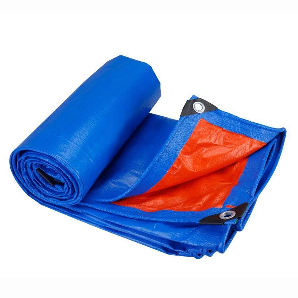 DALL ターポリン 防水 180g /m² 厚さ0.3mm アウトドア 保護カバー 耐摩耗性 耐久性 複数のサイズ (Color : 青, Size : 10×15m) 青 10×15m