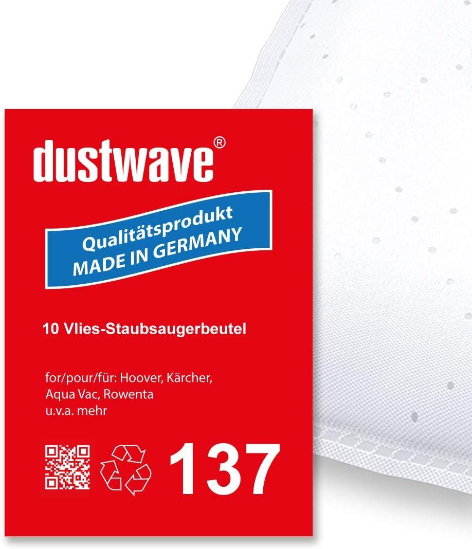 dustwave® - Lote de 10 bolsas de filtro para aspiradora Rowenta RU 502 (30 L): Amazon.es: Hogar