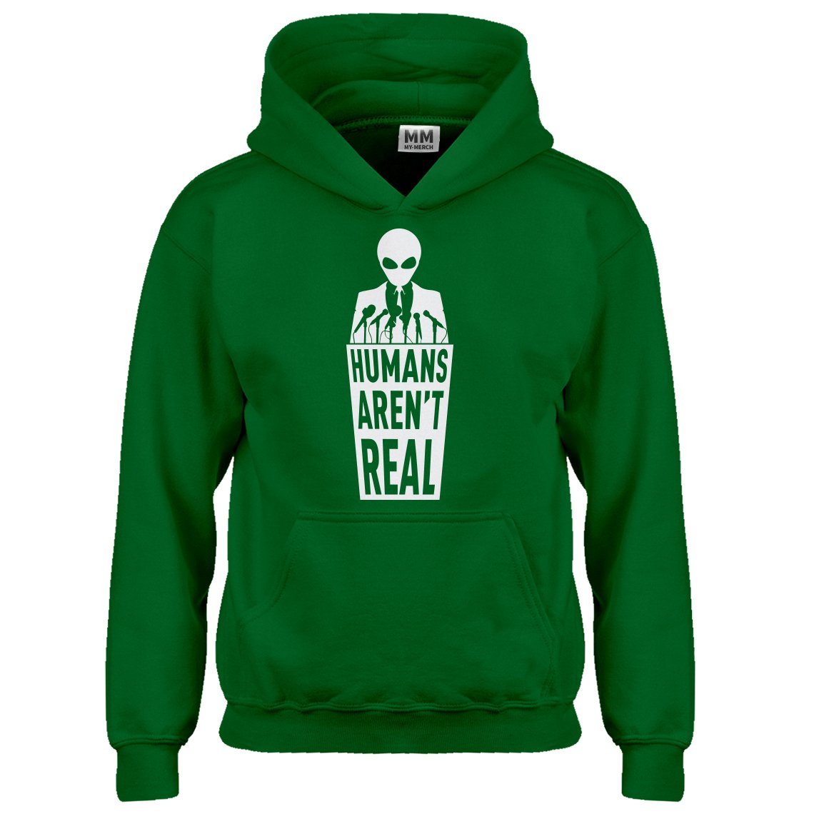 Indica Plateau Humans Aren't Real Kids Hoodie 3008-Z