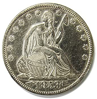 1853 Seated Liberty Half Dollar w/ Arrows & Rays 50¢ XFAU