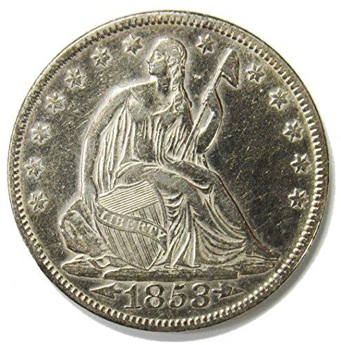 (1853 Seated Liberty Half Dollar w/Arrows & Rays 50¢ XFAU )