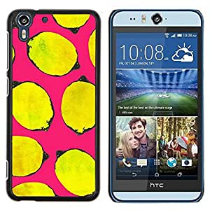 Stuss Case / Funda Carcasa protectora - Amarillo La vida rosa del arte minimalista - HTC Desire Eye ( M910x )