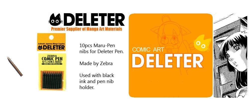 Zebra Manga Pen Nib Maru Pen - 10pc Deleter