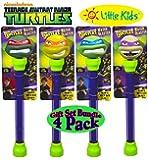 Little Kids Teenage Mutant Ninja Turtle Water Blasters Raphael, Michelangelo, Leonardo & Donatello Gift Set Bundle - 4 Pack