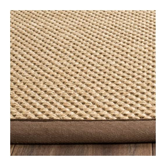 Safavieh NF141C-10 Area Rugs - Construction Power Loomed Fiber/Finish 100% Sisal Pile Backing Power Loomed Rugs Do Not Use Backing Material On The Underside Of The Rug. A Thin Coat Of Latex Is Applied To The Underside Of The Rug To Secure The Yarns Firmly In Place. This Latex Coat Is Virtually Invisible And Is Not Considered Backing Material. - living-room-soft-furnishings, living-room, area-rugs - 6120jC8LlHL. SS570  -