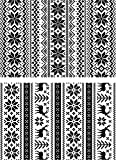 Stampers Anonymous Tim Holtz Cling Rubber Stamp Set, 7 by 8.5, Inch, Holiday Knits