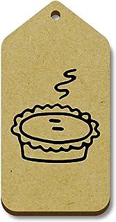 Azeeda 10 x 'Tarte Chaude' etiquettes de Bagage / Cadeau en Bois (TG00061845)