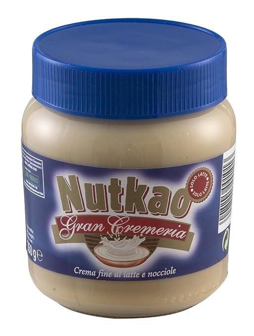 49 opinioni per Nutkao- Gran Cremeria, Crema Fine al Latte e Nocciole- 2 vasetti da 350 g [700