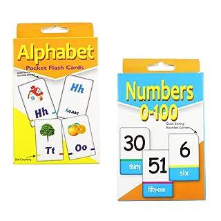 F Fityle 36 Pezzi Schede Flash In Inglese Alfabeta Numero Lettera Per Bambini In Età Prescolare - 2, 12x7.5cm