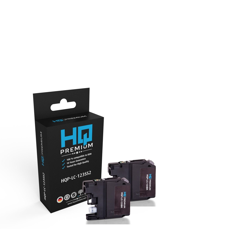 HQ de Premium de tinta compatible con Brother LC 123 bkbp2dr - 2 x ...