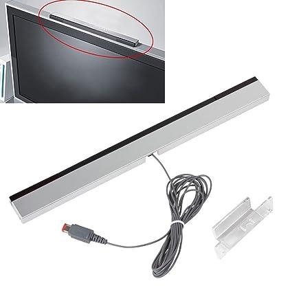 Youlala 1pc Wii Receptor Inalámbrico con Cable Mando a Distancia Sensor Infrarrojo de Movimiento para Nintendo