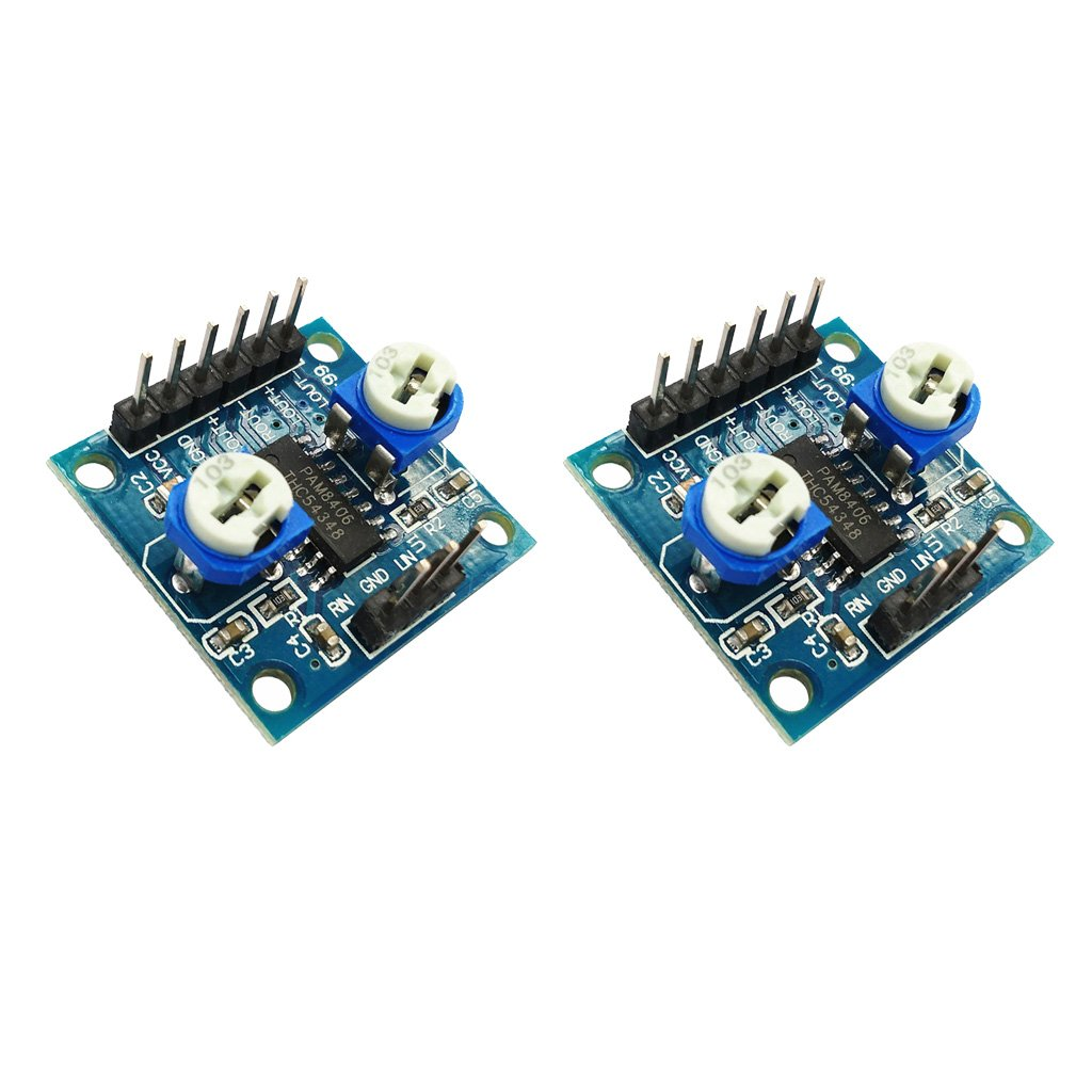 Fityle 2Pcs Audio Amplifier Module, PAM8406 2x5W D Class Digital Amplifier Board 2.5-5V Dual-channel