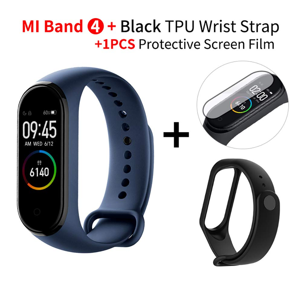 Gooplayer for Mi Band 4 Smart Color Screen Bracelet Heart Rate Fitness 135mAh Bluetooth5.0 50M Swimming Waterproof Blue