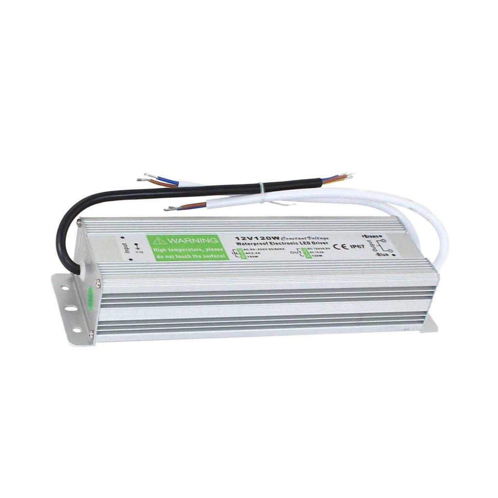 Sharplace 10W-150W Trasformatore di Potenza Driver per LED Strip Luce AC 110-220V a 12V DC - 120w