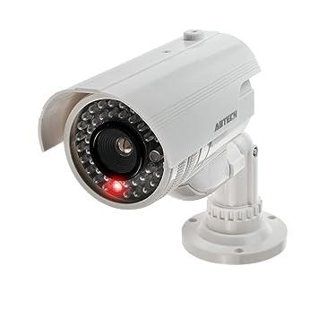 Videokamera innen /& außen Kamera Attrappe Dummy Dome Camera mit blinkender LED