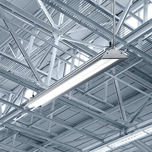 Hyperikon 4 Foot LED Shop Light, 100 Watt (35W), Shop and Garage Lighting, 5000K, Frosted, 4 Pack