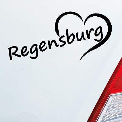 Auto Aufkleber in deiner Wunschfarbe Kiel Herz Stadt City Love Liebe Heimat 13x8