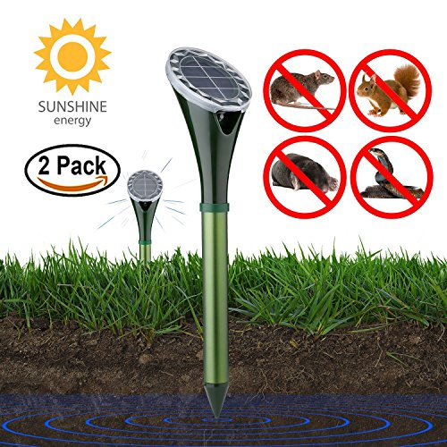 ZFITEI Solar Powered Pest and Animal Repellent, Get Rid of Snake Mole...