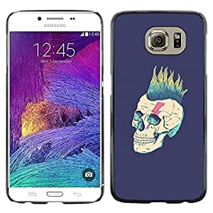 Colorful Printed Hard Protective Back Case Cover Shell Skin for Samsung Galaxy S6 / SM-G920 / SM-G920A / SM-G920T / SM-G920F / SM-G920I ( Punk Purple Vignette Rock Metal )