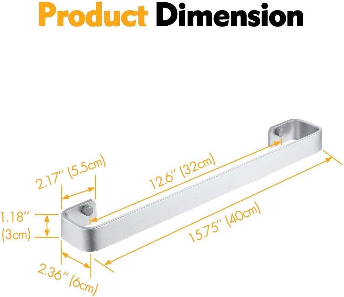 aluminio, sin perforaciones, con pegamento KES A4300-P Organizador de toallas de ba/ño