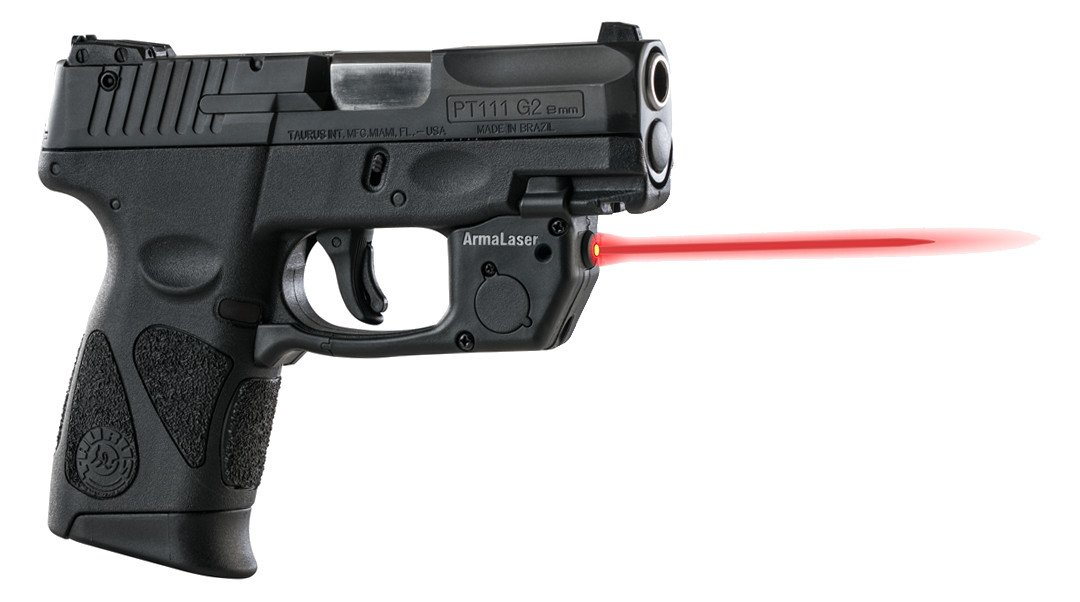 ArmaLaser Taurus PT111 PT140 Millenium G2 TR23 Red Laser Sight with Grip Activation by ArmaLaser